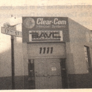 Old black & white photo of BAVC's old office at 1111 17th St., SF.